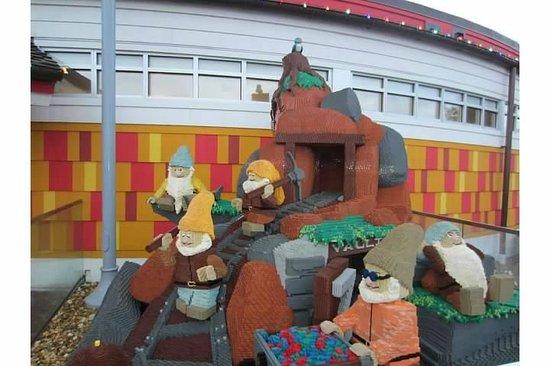 Disney Springs: Seven Dwarfs Lego Creation