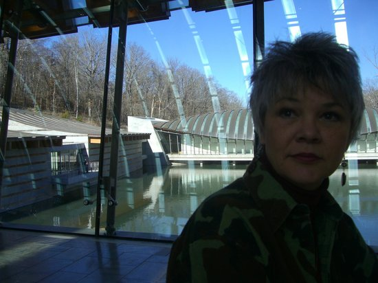 Crystal Bridges Museum of American Art: The view (behind me) from the restaurant