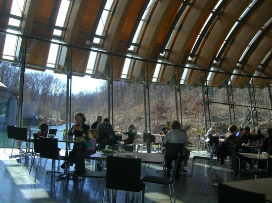 Crystal Bridges Museum of American Art: The view from within the restaurant