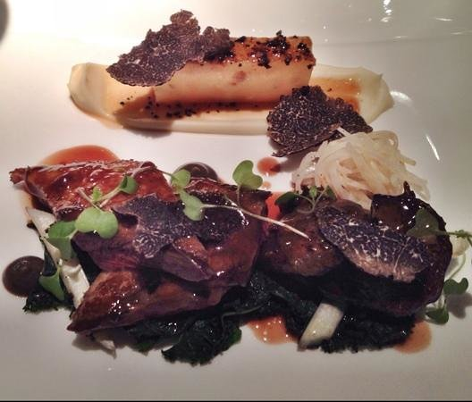 Belmond Le Manoir aux Quat'Saisons: Squab (pigeon) with celeriac plus black truffle and madeira jus.