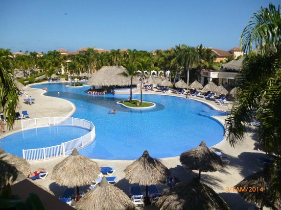 Grand Bahia Principe Punta Cana: The view from our balcon