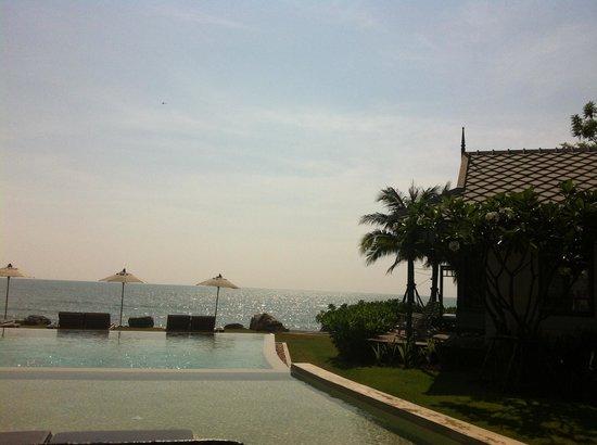 Devasom Hua Hin Resort: view from the hotel lobby area