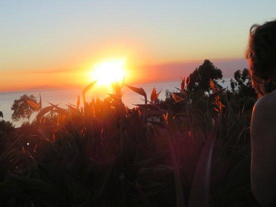 Marriott's Newport Coast Villas: sunset by the pool