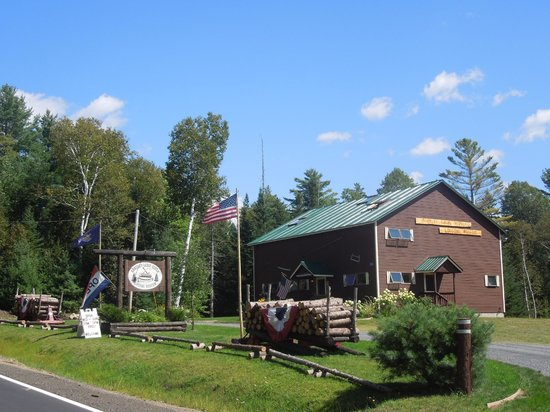 Rangeley, ME: The museum entrance from Rt 16