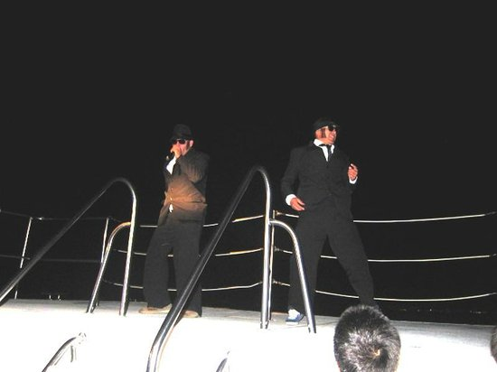 Rhythms of the Night by Vallarta Adventures: Blues Brothers skit on the boat.