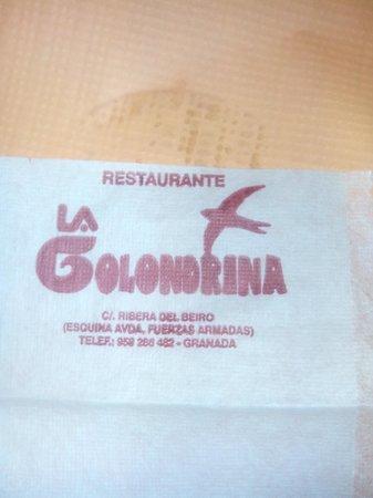 Restaurante la Golondrina.  Av de Las Fuerzas Armadas, 3. Granada