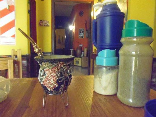 Hostel El Malecon : Desayunando