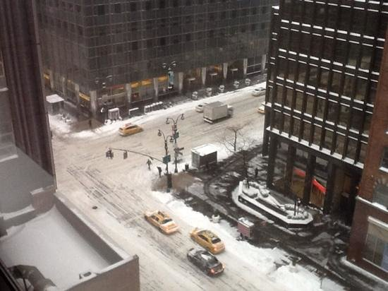 The Westin New York Grand Central: view from our hotel room in -12 conditions! toasty room though!
