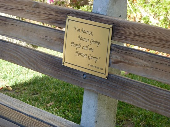 Paramount Pictures - Studio Tours: Forest Gump bench