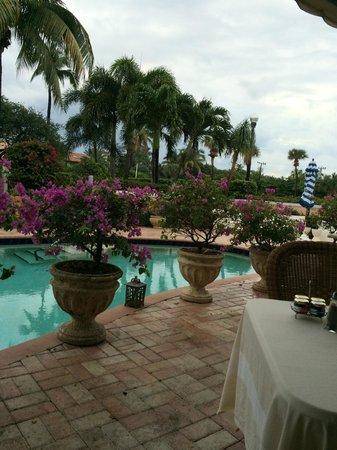 Colony Hotel: breakfast on the terrace