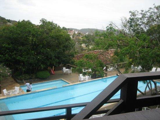 Hotel La Foret: Pileta vista desde el balcon de la habitacion