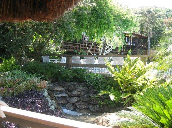 Hotel La Foret: Jardines rodeando la pileta