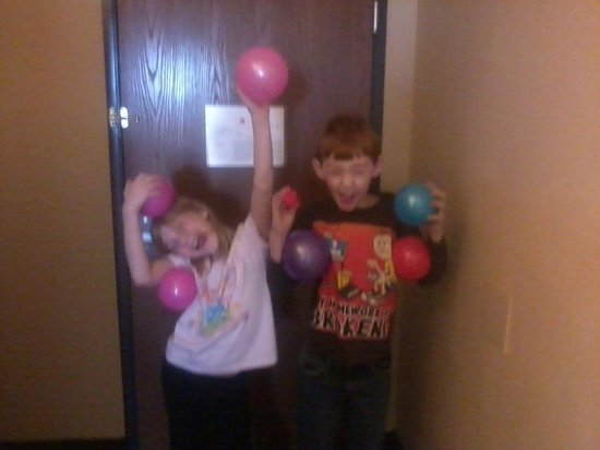 BEST WESTERN PLUS The Charles Hotel: Kids after trip to the game room playing bear claw machine!