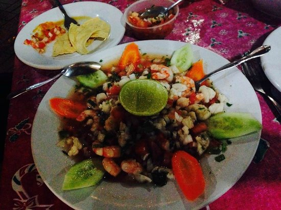Hotel Cozumel and Resort : ceviche from town