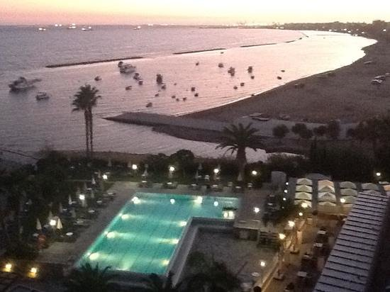 Crowne Plaza Limassol: Sunset over Limassol from Crowne Plaza, 5th Floor
