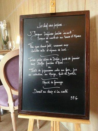 Restaurant Au Souper Fin : Menu à 59€
