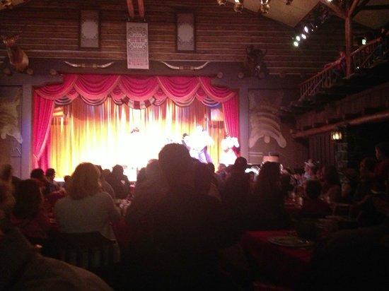 The Hoop-Dee-Doo Musical Revue: Stage view from the floor