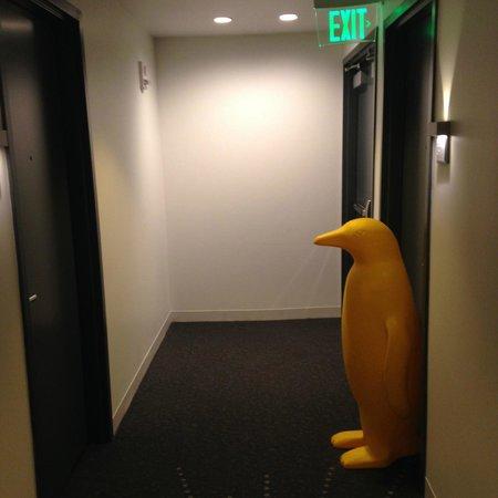 21c Museum Hotel Cincinnati: Surprise in front of our room