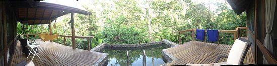 Pacuare Lodge : Panorama of our porch