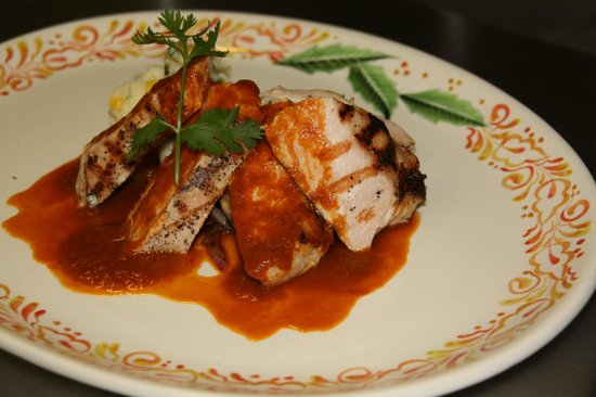 Epazote: Pork Loin w/ Pasilla Chili Peppers and Molasses Sauce