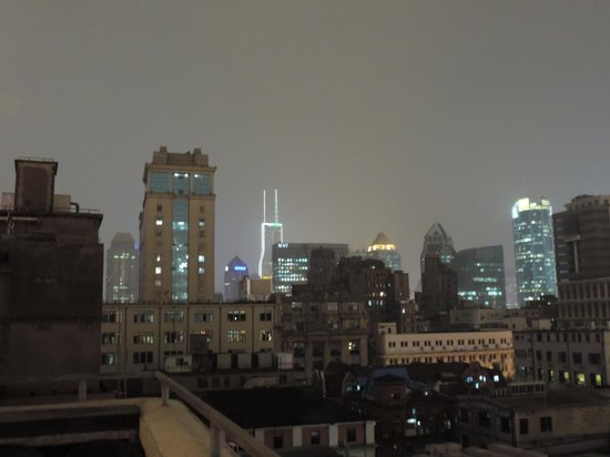 Le Royal Meridien Shanghai: You can see the Le Meridien in the distance - its the tower with the 2 prongs at the top