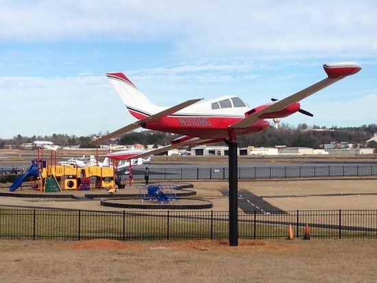Runway Park at GMU: Cessna 310 static aircraft display