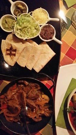 Hacienda Mexican Bar & Restaurant: Fajitas mit Rinderfilet streifen