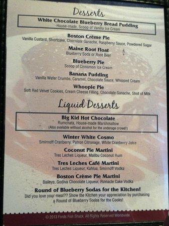 Ford's Fish Shack: Dessert!