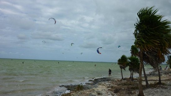 PDC Kiteboarding School and Water Sports Center: Shallow water for miles