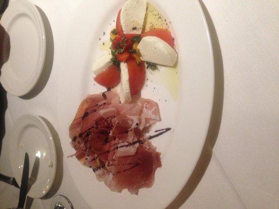 DiSalvo's: The mozzarella and prosciutto t