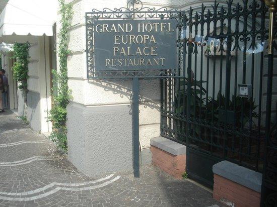 Europa Palace Grand Hotel: Entrance