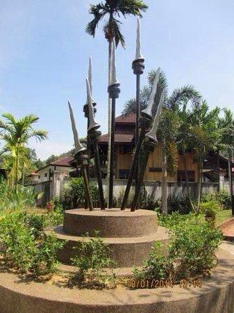 Mahsuri's Tomb: In the backyard