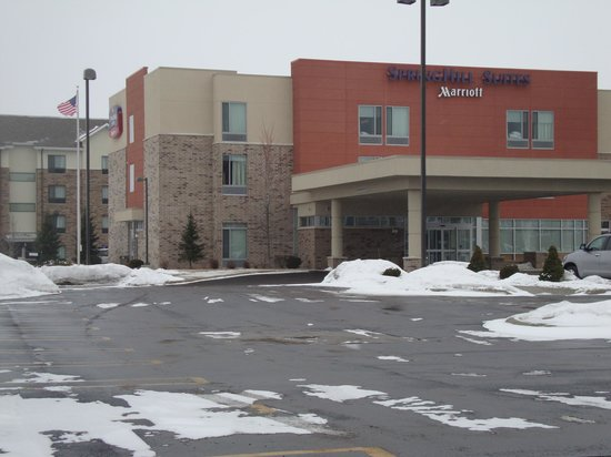 SpringHill Suites Saginaw: front of hotel....deep in the winter