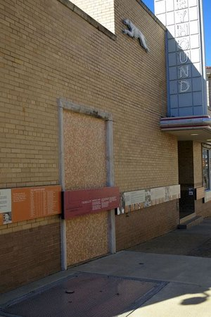"""Freedom Rides Museum: """"Colored Entrance"""" that they were required to block up"""