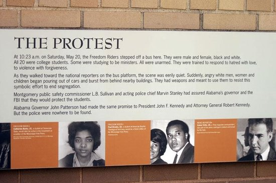 Freedom Rides Museum: all this is outside in case you go when they are closed