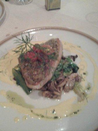 Ocean 11: Tuna steak and the veggies was amazing.