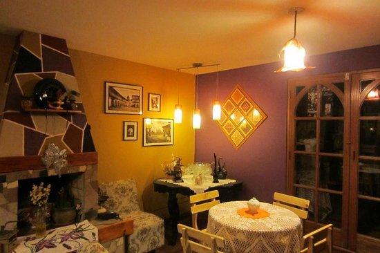 Villa Betty: Main Lounge & Fireplace