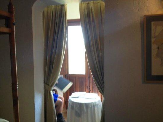Posada de San José: Window in room overlooking canyon