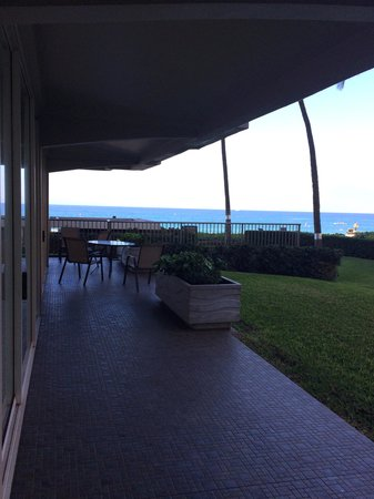 Aston at The Whaler on Kaanapali Beach: Side of 102 looking onto garden