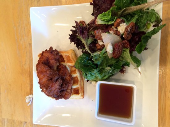 247 Craven: Waffle with chicken and salad at Craven