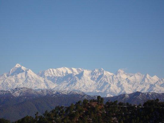 Sahaj Hotel Ranikhet: Great Himalaya view from Sahaj Hotel.