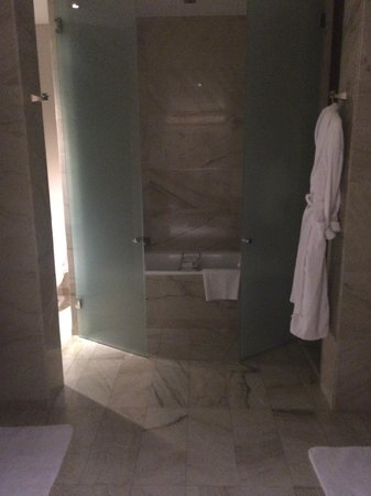 The St. Regis Mexico City: Loved the shower and bathtub combo...