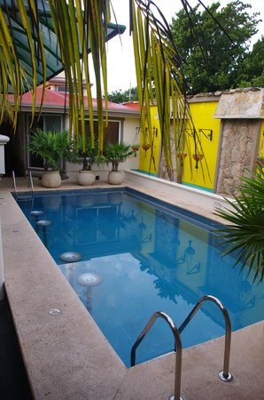 Cascadas de Merida: Casitas and hammocks around the pool