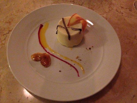 Grand Aston Bali Beach Resort: White chocolate truffle dessert at Giorgio Italian Restaurant