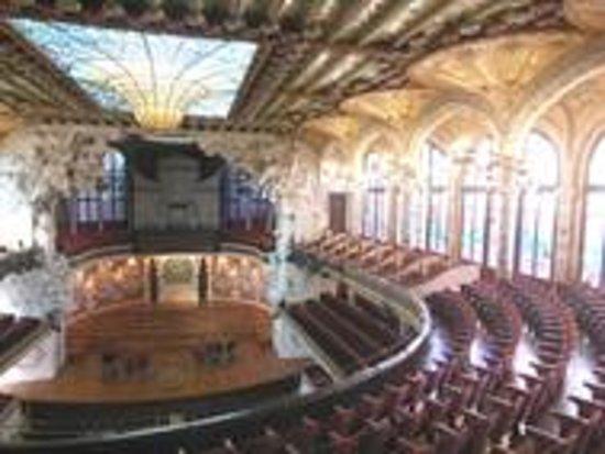 Palais de la Musique Catalane (Palau de la Musica Catalana) : Palazzo della musica, l'interno