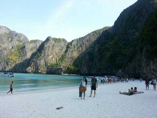 "Phuket Sail Tours : ""the beach"" maya bay phi phi key"