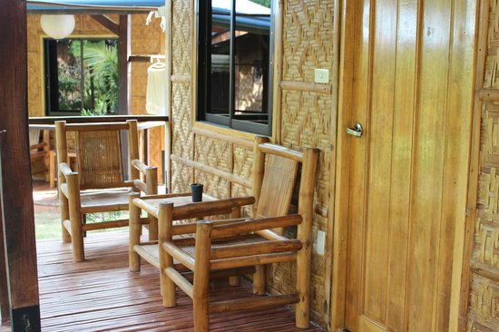 L'Elephant Bleu Cottages: Cottage private terrace
