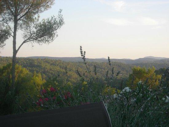 Lavandaline : Vue sur la chaîne des Maures