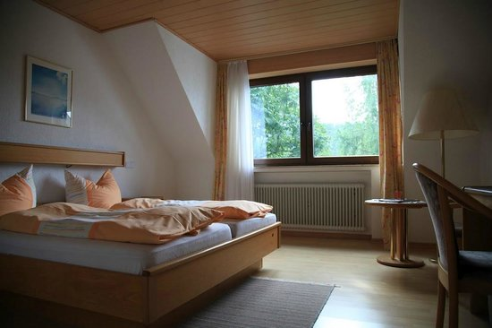 Landhotel Am Schloss: Zimmer mit Blick zum Garten