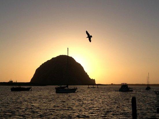 Morro Rock: Скала Морро на закате
